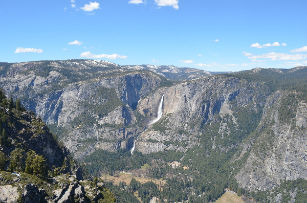 Yosemite Falls und Yosemite Valley vom Glacier Point
